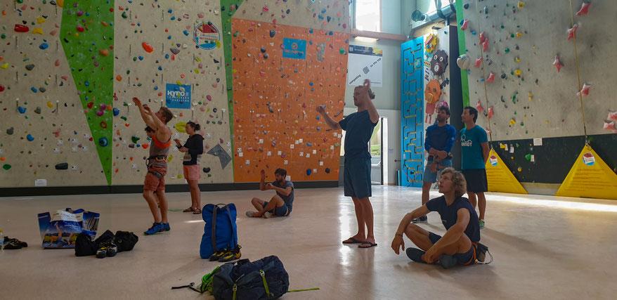 Kijken doe je bij klimmen blijkbaar wel met je handen