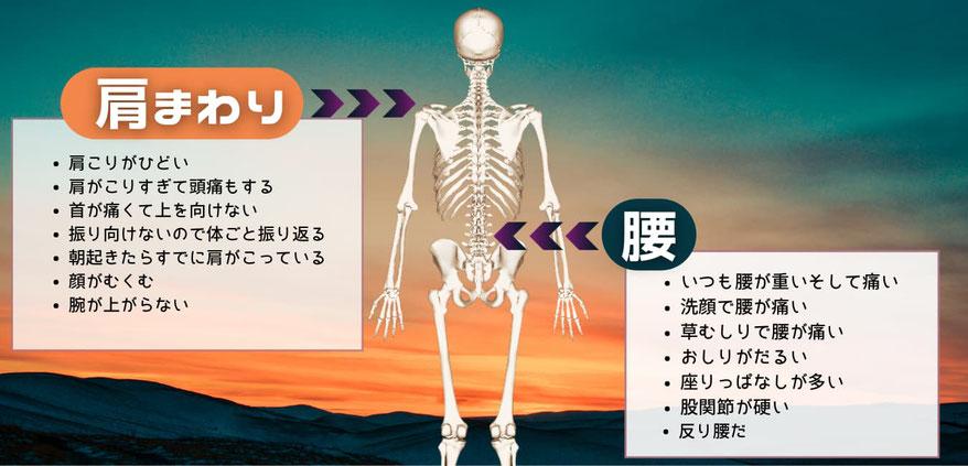 肩こり腰痛の諸症状