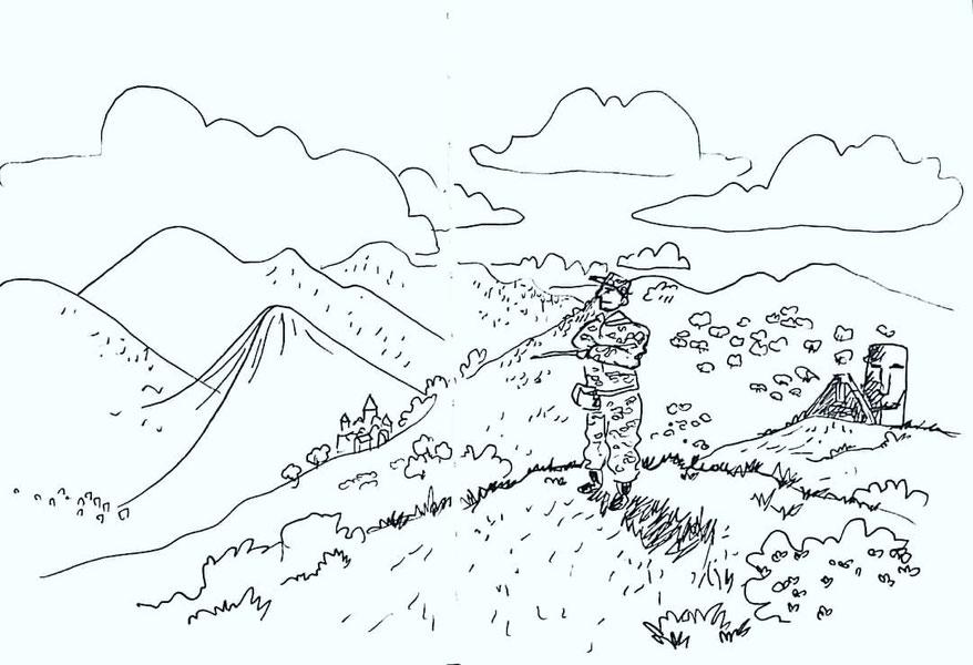 """Mot du jour #gardien. Cette illustration se nomme """"gardien de ses terres"""""""