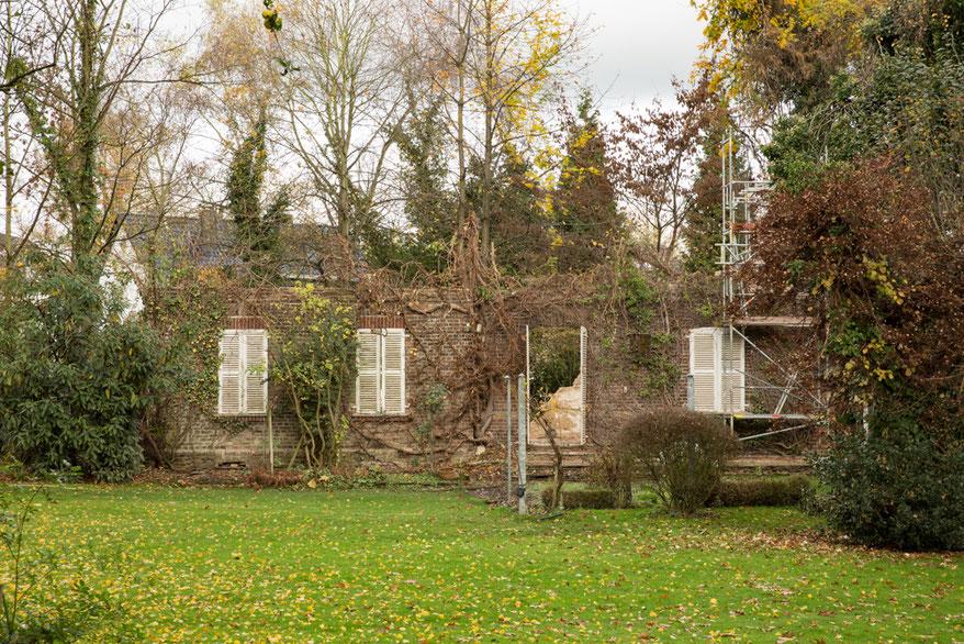 Rückseite der alten Villa im Jahr 2015