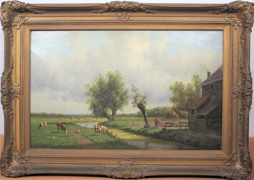 te_koop_aangeboden_een_landschaps_schilderij_van_de_kunstenaar_willem_verster_1824-1895