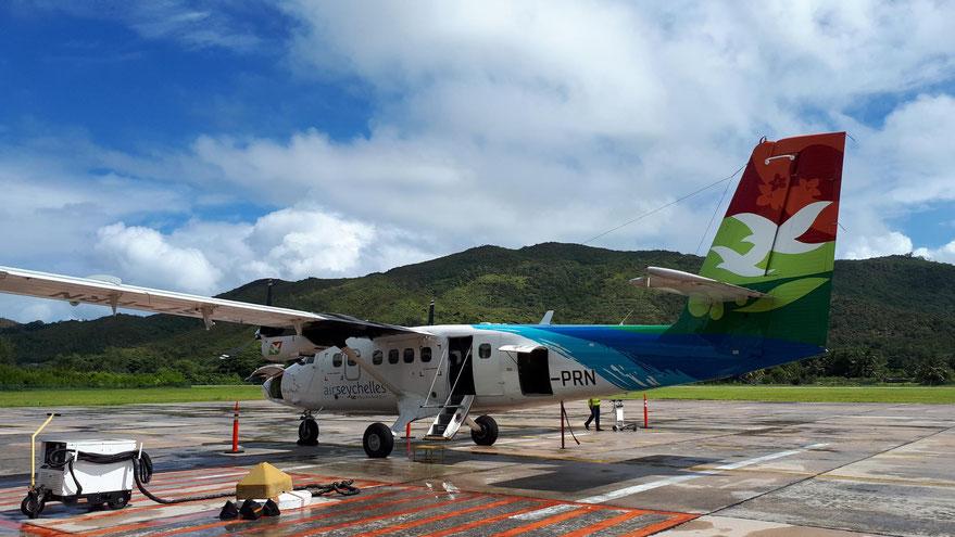 Mit Air Seychelles nach Praslin
