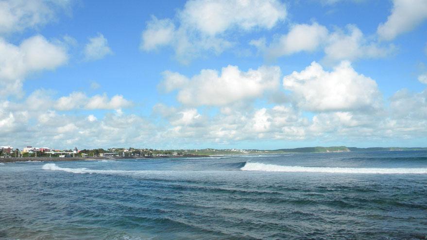 Ostküste von Grand-Terre - Blick nach Le Moule