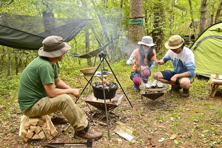 日常から解放させるための「キャンプのすすめ」となる講座です。