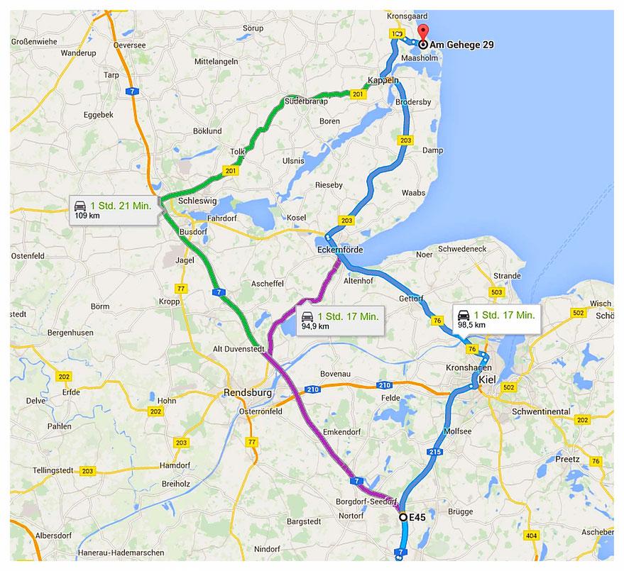 Noor-und-Meer_Anreise_Autobahn