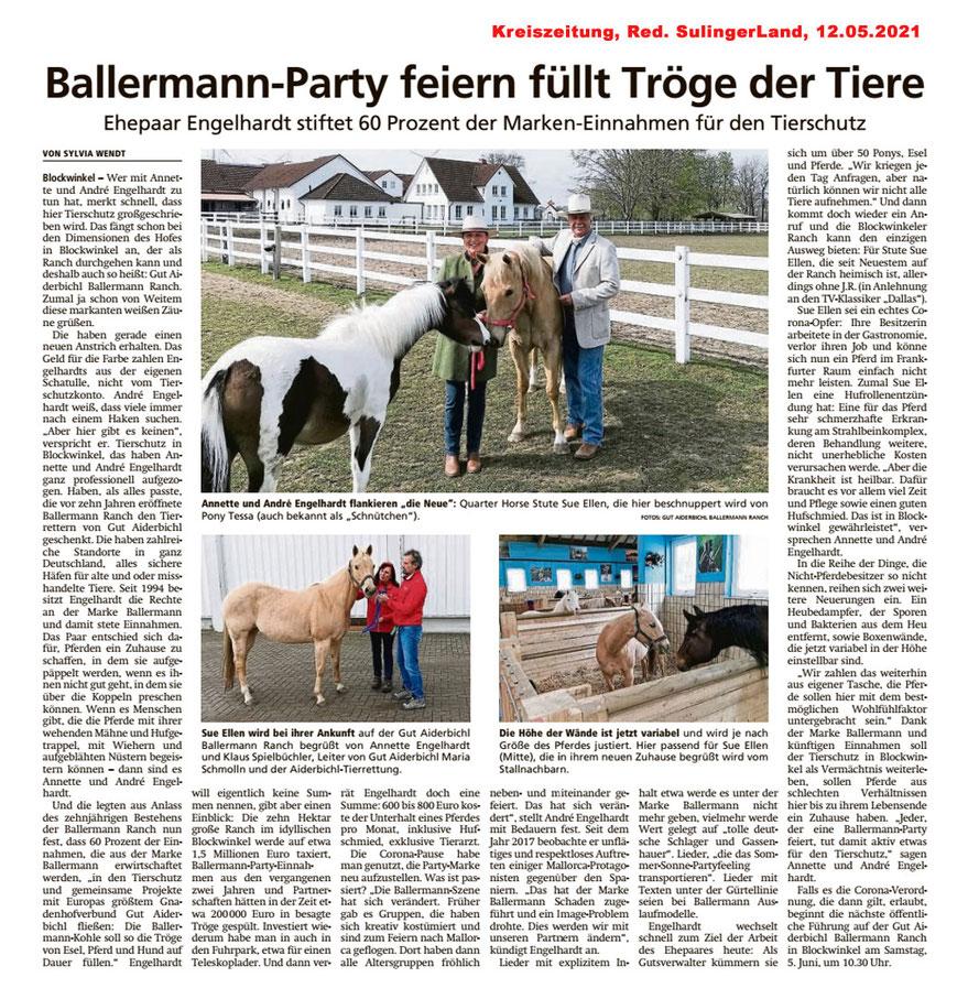 Annette u. Andre Engelhardt - Ballermann, eine Partymarke für Tiere in Not!