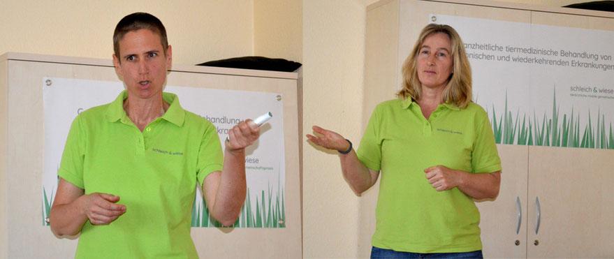 Frigga Wiese und Simone Schleich - alternative Tiermedizin