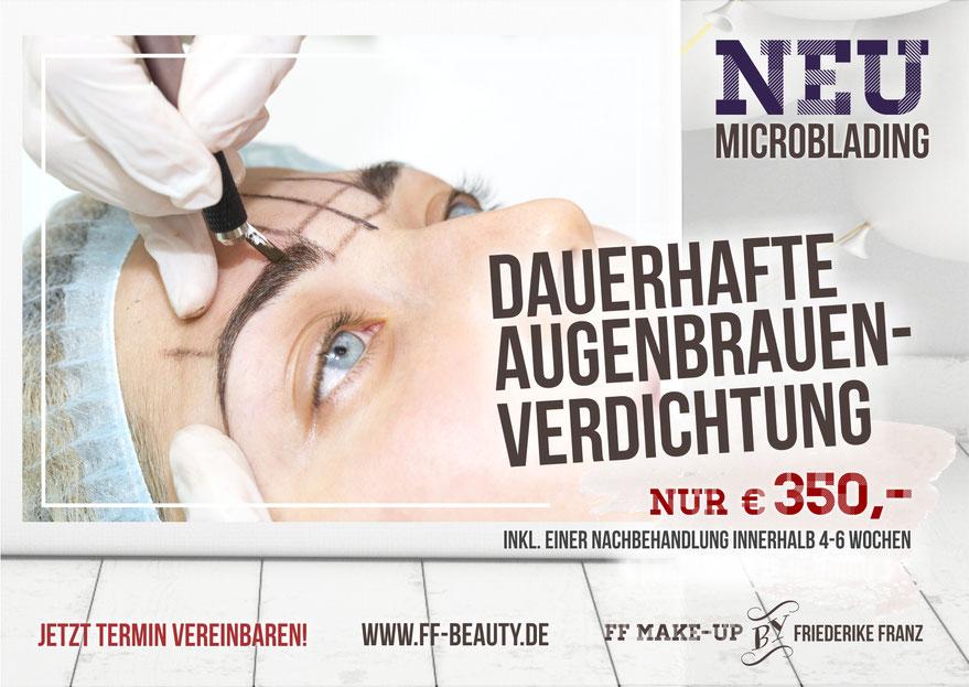 Microblading Augenbrauenverdichtung