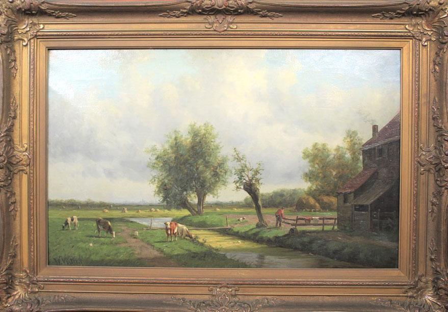 te_koop_aangeboden_een_landschaps_schilderij_van_de_kunstschilder_willem_vester_1824-1895