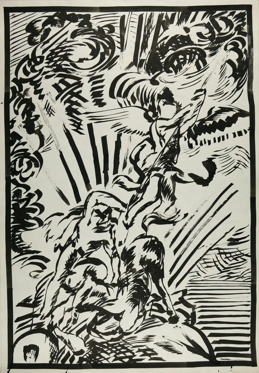 Elmar Trenkwalder Kunst kaufen  Zeichnung 1983