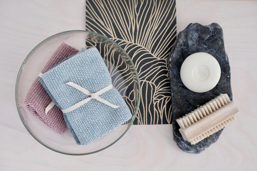 dieartigeBLOG - Nachhaltigkeit zu Hause, neuer Hashtag #fridaysforfutureathome, Abwaschlappen aus Baumwolle