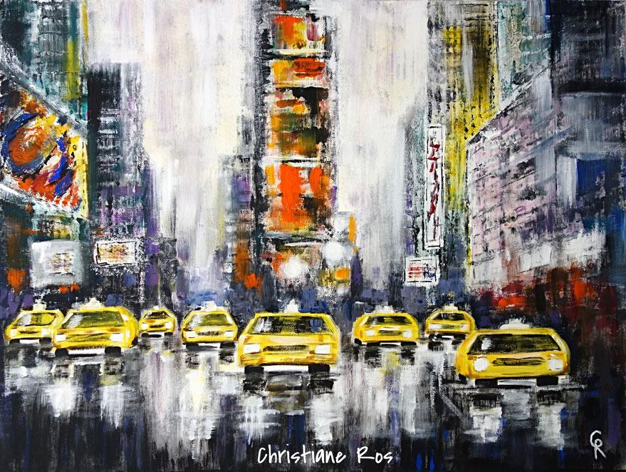 Gemälde Times Square New York City © Christiane Ros