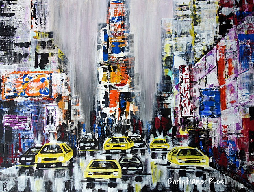 gemaltes Bild Times Square New York City © Christiane Ros