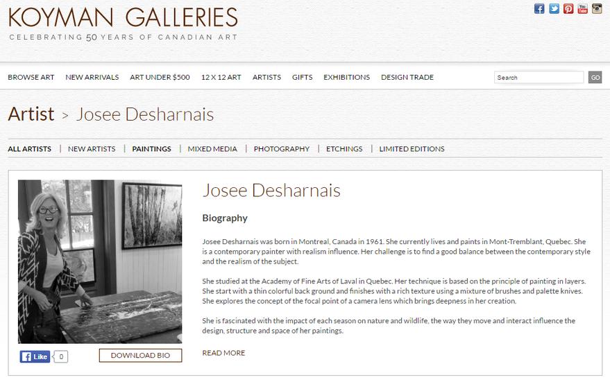 Josee Desharnais Artiste Peintre