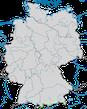 Karte zur Verbreitung des Alpenschneehuhns (Lagopus muta) in Deutschland.
