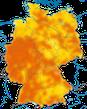 Karte zur Verbreitung der Singdrossel in Deutschland