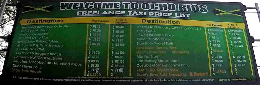 Taxipreise im eingezäunten Hafengelände