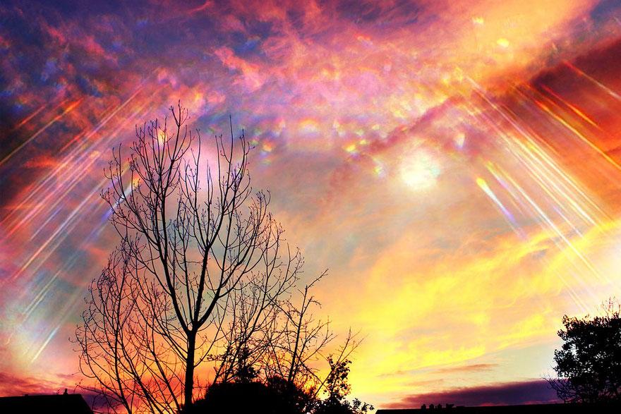 Message du feu sacré , le pouvoir de création et de la manifestation