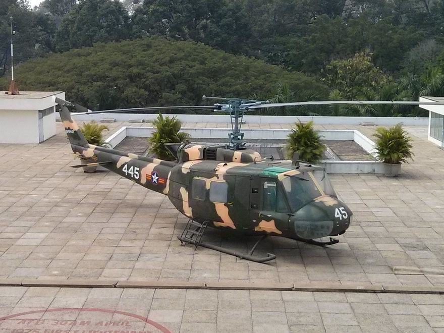 US helicopter in Saigon