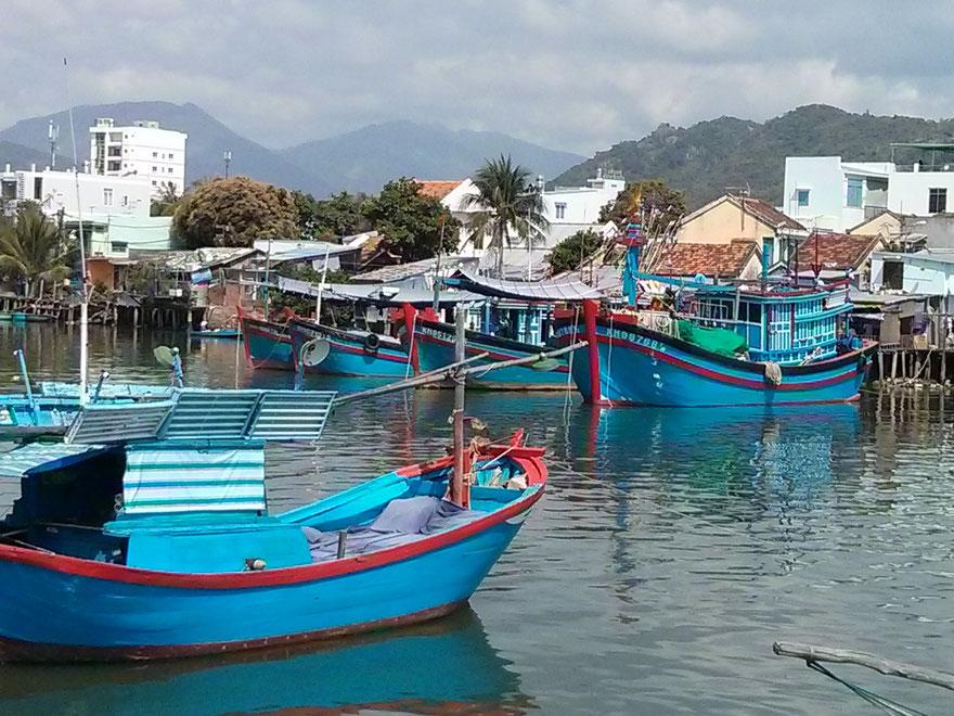 Fishing boats River Cai Nha Trang