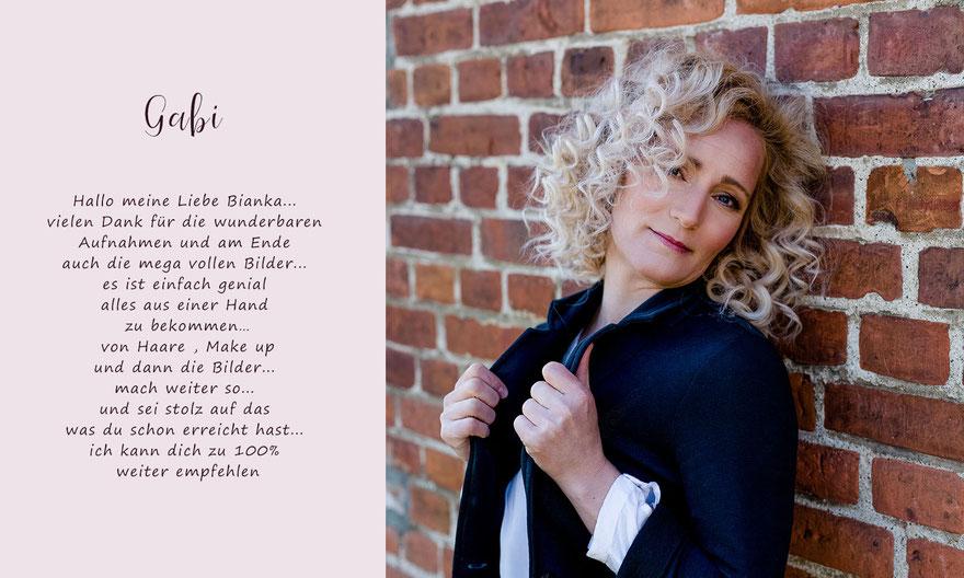 Kundenmeinung von Gabi zum Frauen-Portrait-Fotoshooting