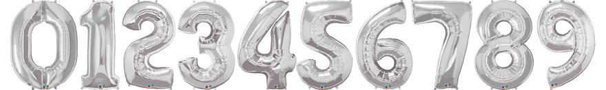 Luftballon Ballon Zahlen silber gold XXL groß Folienballon Hingucker Eyecatcher Geburtstag Jubiläum exklusiv besondere Party