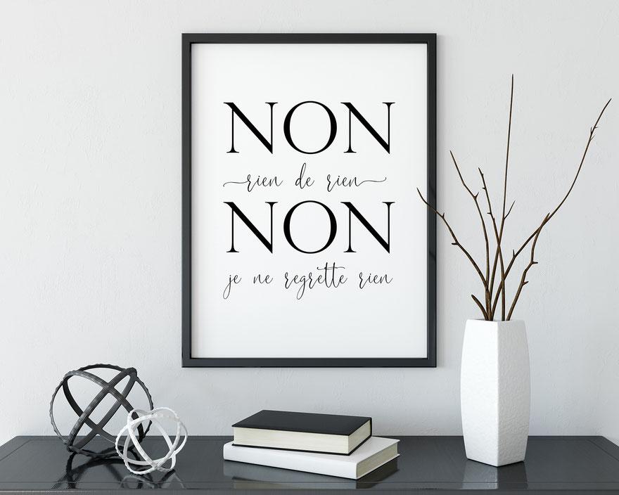 Kunstdruck Print Je ne regrette rien Edith Piaf