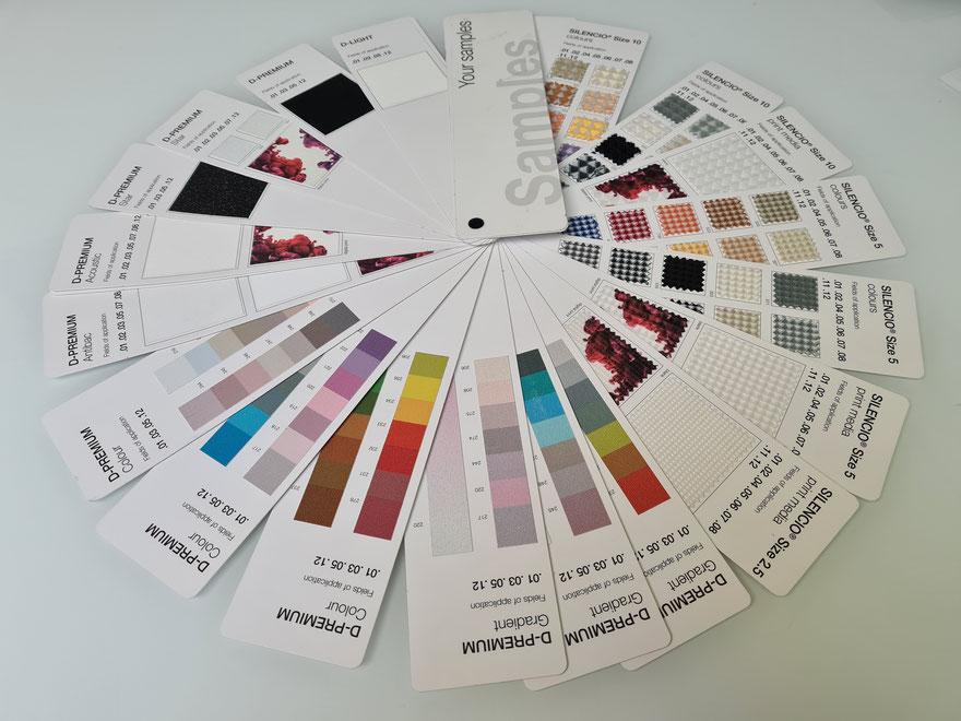 Descor Decken für Akustik, Design oder Gesundheitsbereiche (antibakteriell) von MERLIN Spanndecken Kärnten; Foto: MERLIN