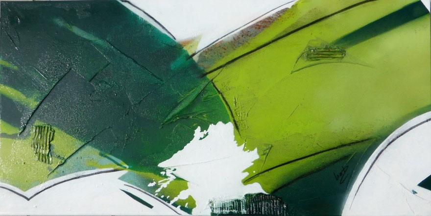 Nr. 276 - Öl- Mischtechnik 60x120x3,5cm