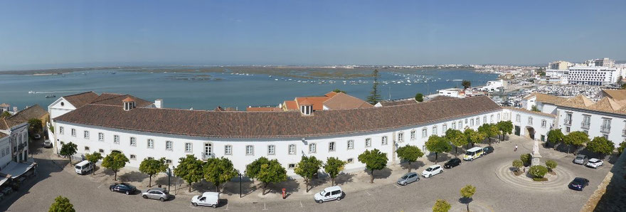 Faro wetlands, from fthe cathedral bell tower