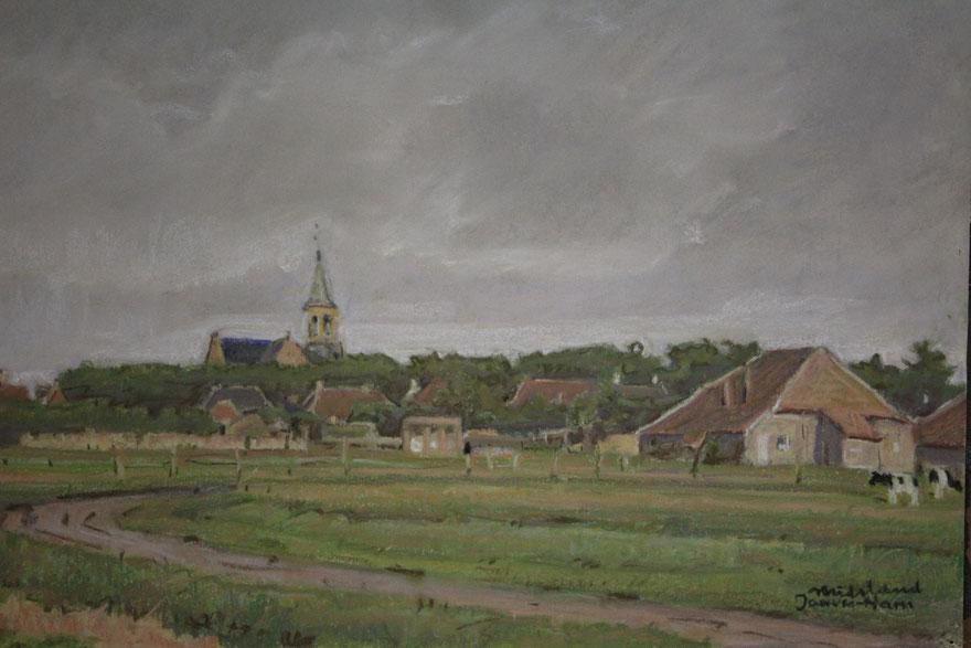 te_koop_aangeboden_een_gouache_kunstwerk_van_de_kunstschilder_jan_van_ham_1892-1989