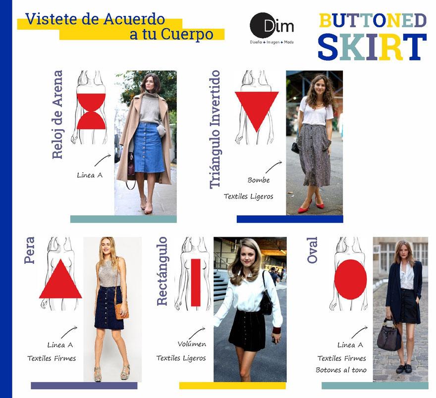 Buttoned Skirt - Tendencias 2015