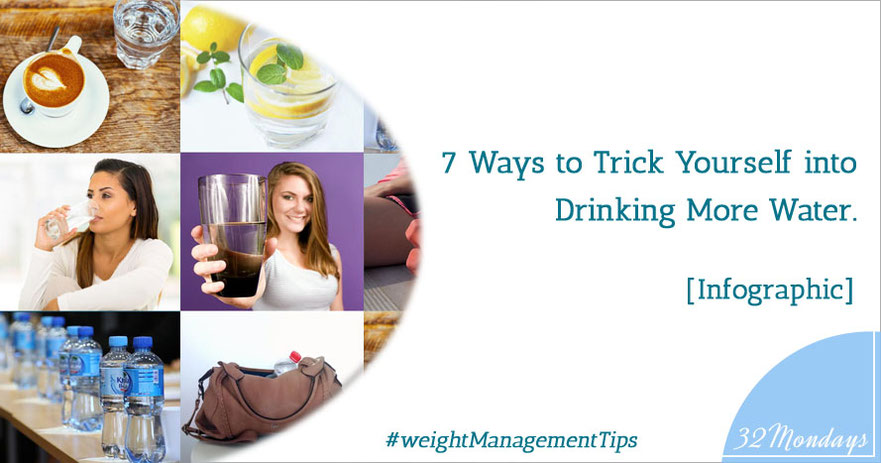 7 Ways to Trick Yourself into Drinking More Water [Infographic]