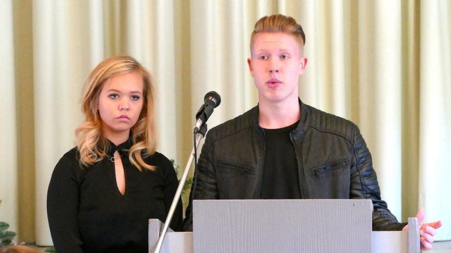 Hielten eine bewegende Ansprache: Felicitas Schnoor und Benjamin Bräuninger