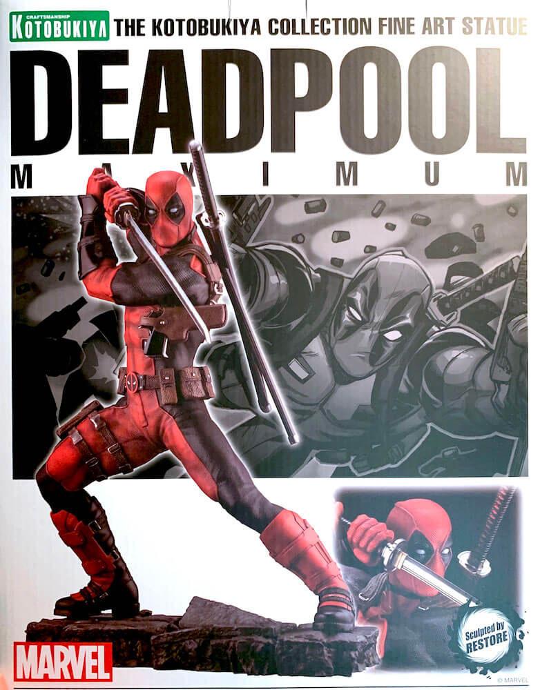 Deadpool Maximum 1/6 Marvel Fine Art Resin Statue 30cm Kotobukiya