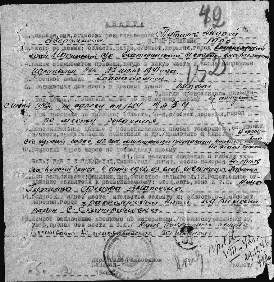 Анкета Путилова А.А.