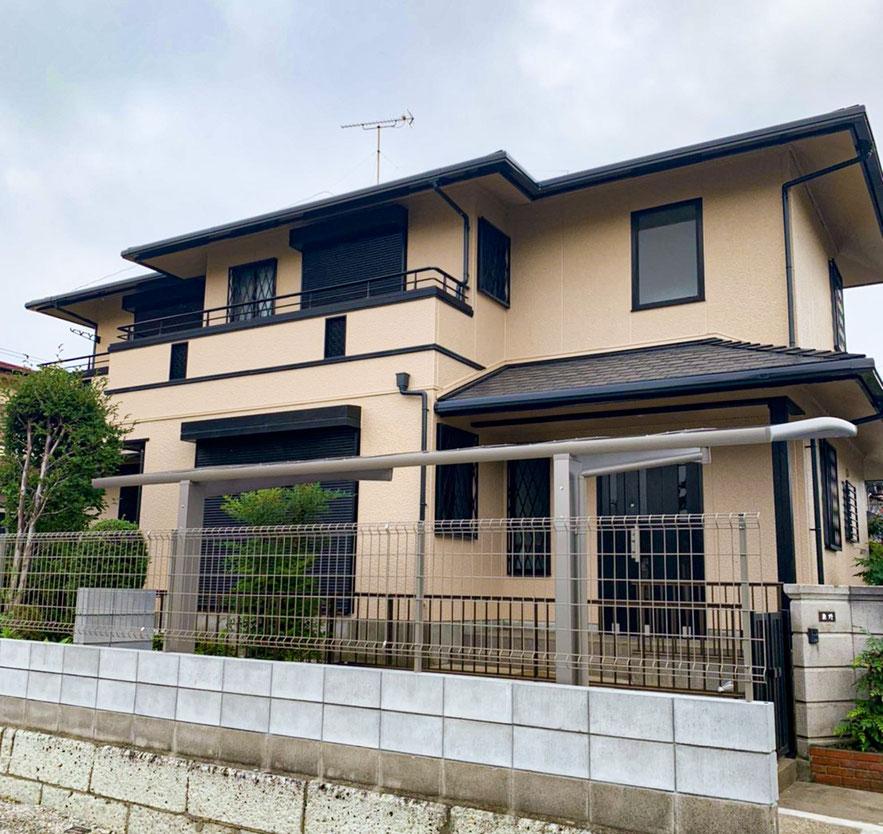 鎌ケ谷市東初富の屋根・外壁塗装工事 完成