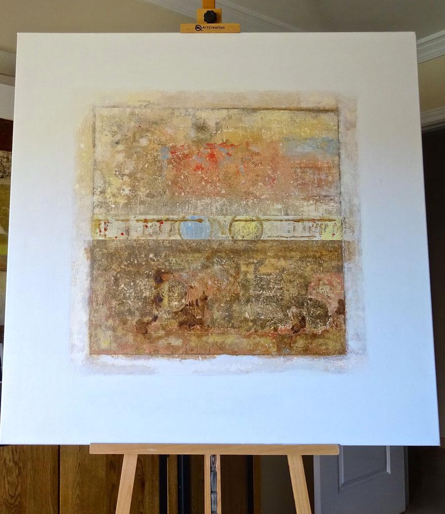 Fondos Marinos - Acrílico sobre lienzo - 100H x 100W x 3 cm