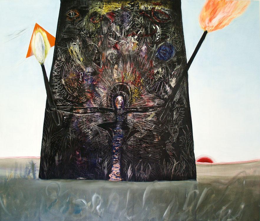 tribunal, 2020, oil and acrylic on canvas, 159 x 190 cm