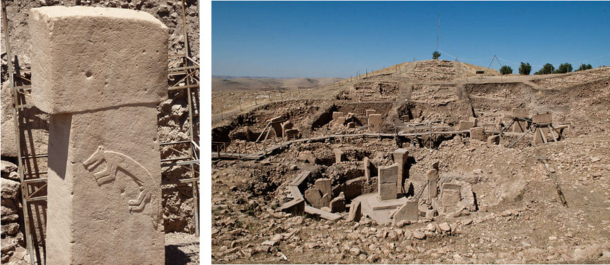 Images of Göbekli Tepe archaeology site in Turkey
