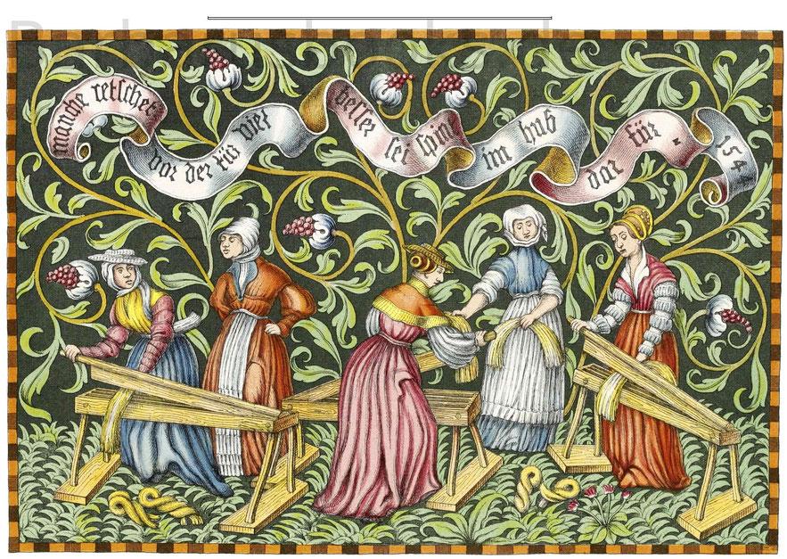 Teppich vom Jahr 1544 im Bayerischen Nationalmuseum zu München