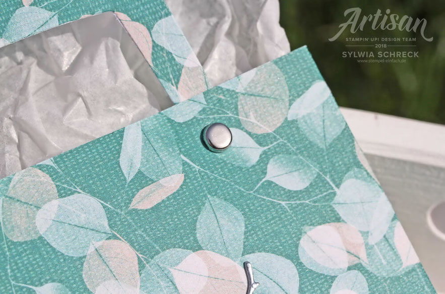 Tasche mit Stampin Up Designerpapier Poesie der Natur