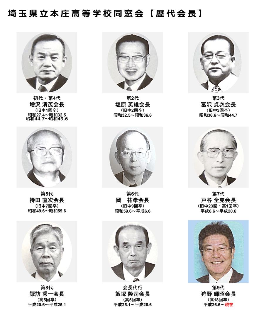 埼玉県立本庄高等学校同窓会 歴代同窓会長の画像