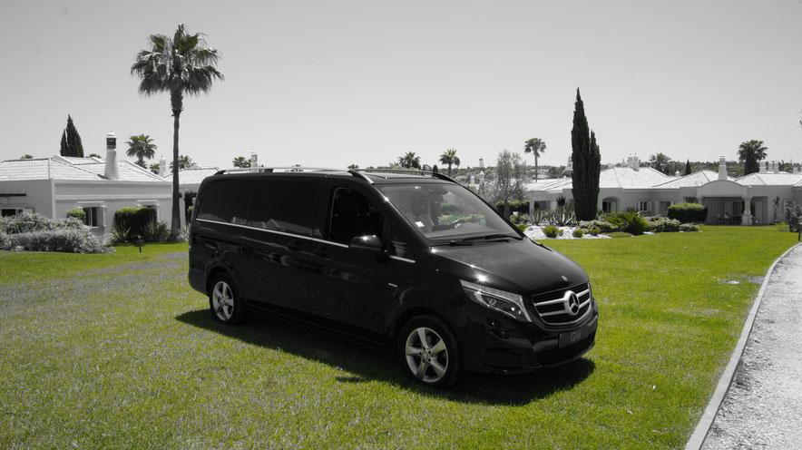 Grand Wings Luxury Chauffeurs in Portugal und Algarve geeignet für Touren oder nur Fahrt vom Flughaffen nach Hause,für Familien,Gruppen,Feste oder doch alleine.