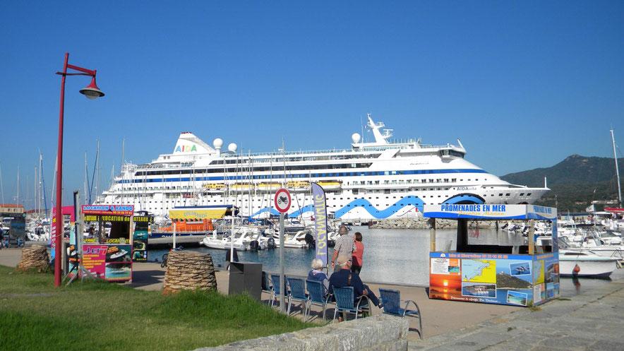 Angebote von Bootsausflügen in der Marina