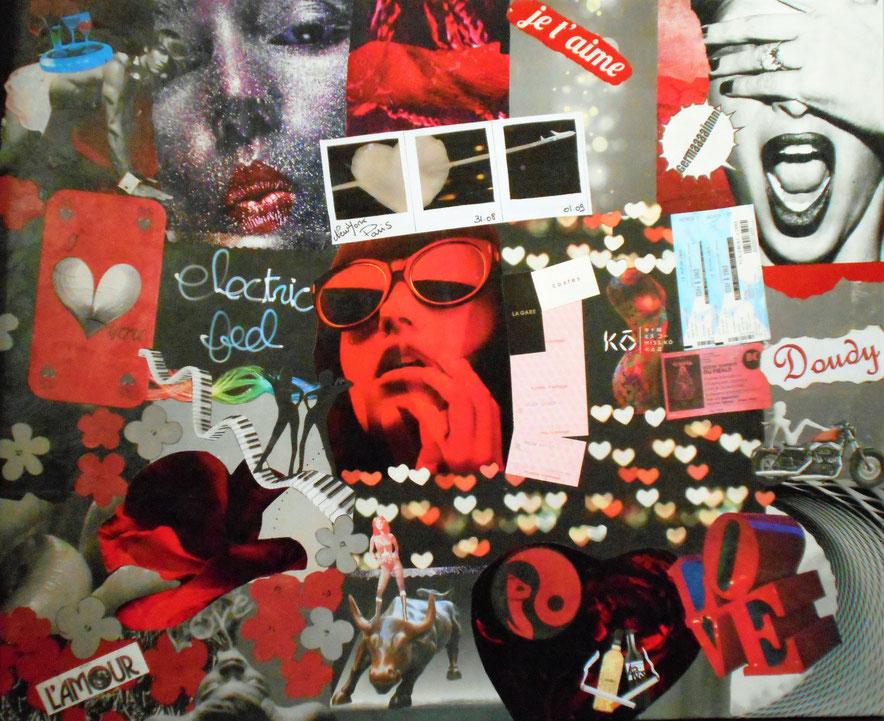Tableau personnalisé , collage I Love U