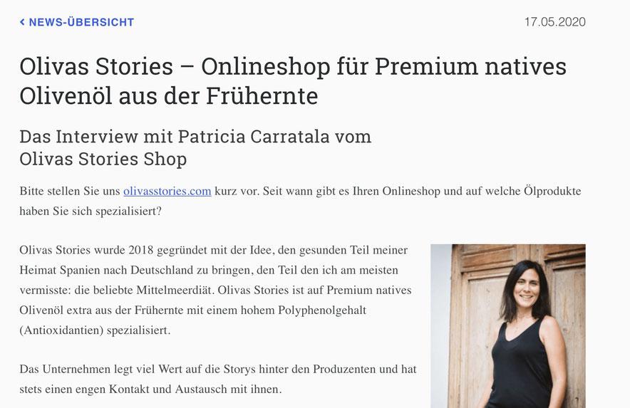 Interview mit Patricia Carratala auf Expertentesten.de