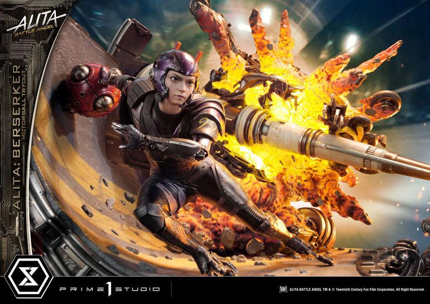 Alita Berserker Motorball Tryout Bonus Version 1/4 Alita: Battle Angel Movie Statue 64cm Diorama Prime 1 Studio