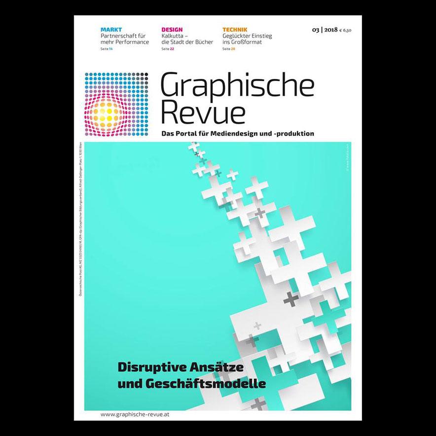 Artikel über Sibylle Exel-Rauth in der Graphischen Revue 3/2018