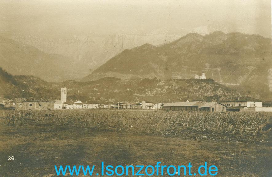 Kobarid /Karfreit / Caporetto nach dem Durchbruch am 24.10.1917. Sammlung www.Isonzofront.de